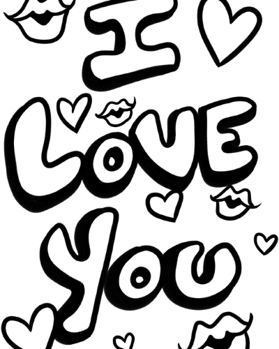 400x500 I Love My Boyfriend Coloring Pages I Love My Boyfriend Coloring