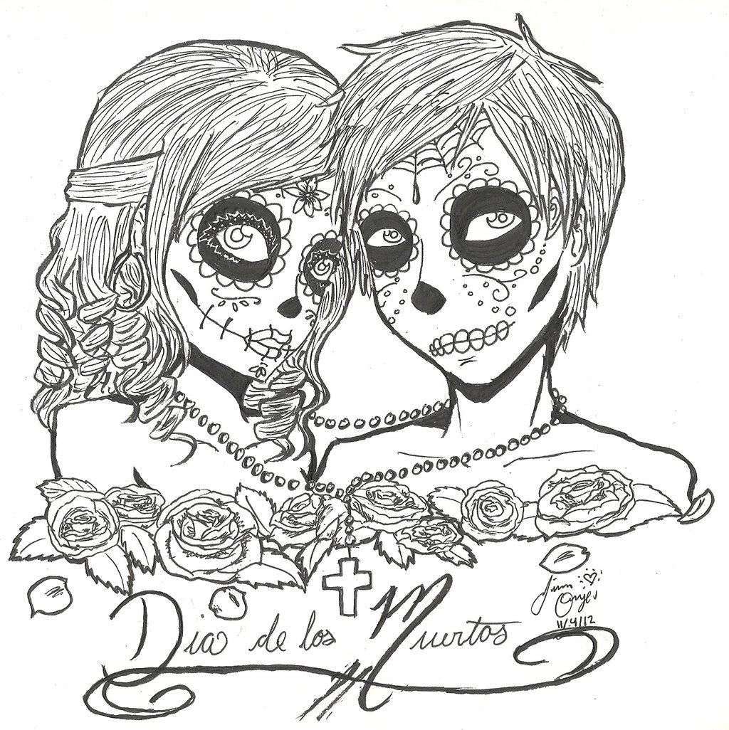 1024x1026 Printable Day Of The Dead Skull Illustration Hledat Googlem