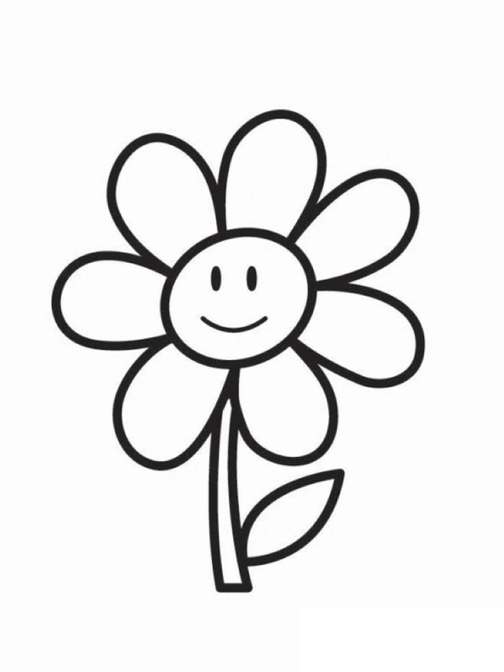 Cute Coloring Pages Of Flowers