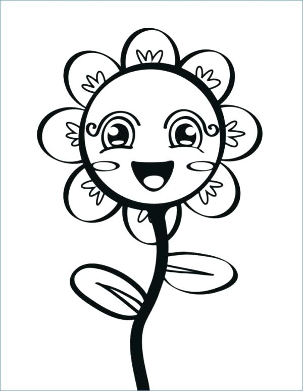 Cute Coloring Pages Of Flowers At Getdrawings Com Free For
