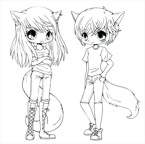 600x596 Cool Anime Coloring Pages Cute Couple Coloring Pages Gorgeous