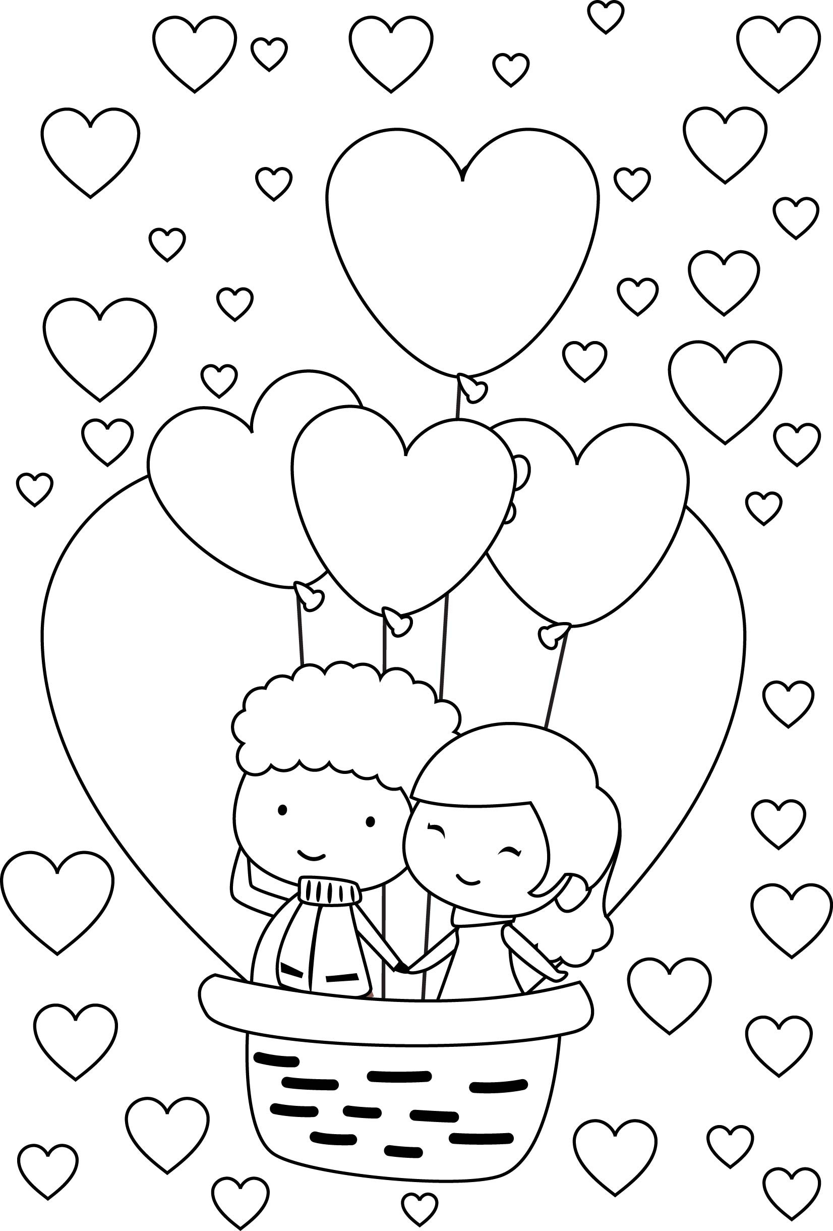 1652x2440 Cute Couple Coloring Pages Free Draw To Color