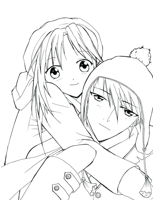 600x784 Emo Girl Coloring Pages Cute Couple Coloring Pages Anime Couple