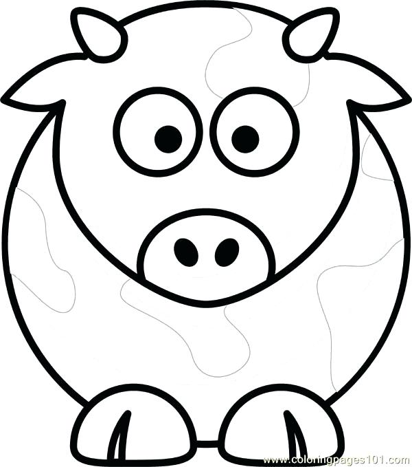 600x679 Cow Coloring Pages Cow Coloring Pages Cow Coloring Book Cow