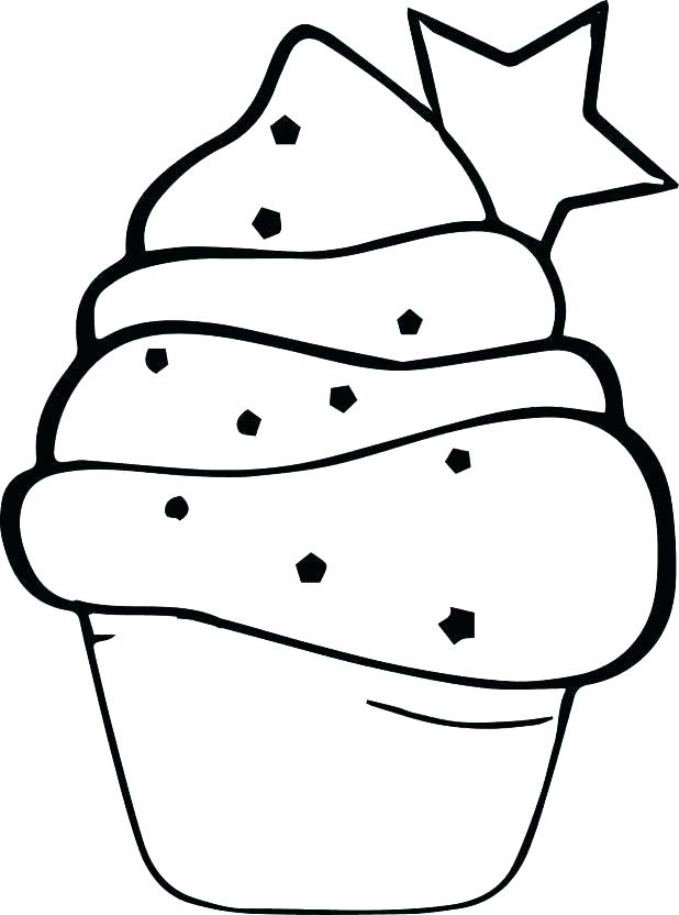 618x832 Cupcake Coloring Pages Hello Kitty Free Printable Cupcakes Murs