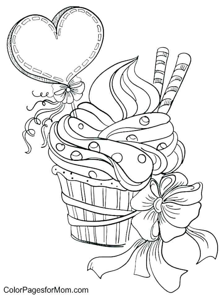 720x960 Cupcake Coloring Pictures Cupcake Coloring Book And Cupcakes