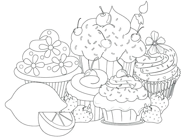 736x549 Cupcakes Coloring Pages Cupcake Cup Cakes Colouring Pages Online