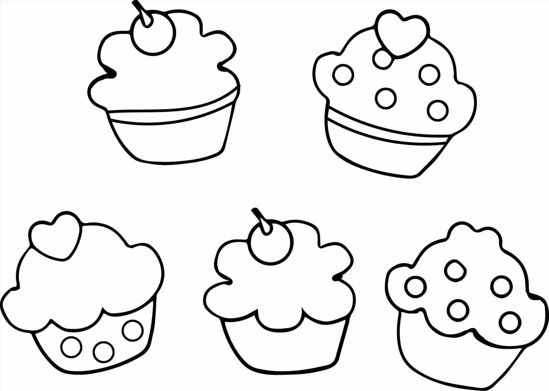 1900x1355 Cute Cupcake Coloring Page Cookie Books With Cupcakes