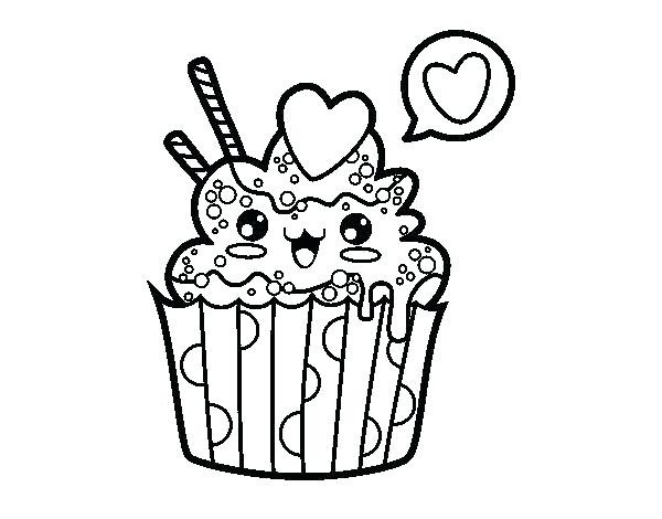 600x470 Cute Cupcake Coloring Pages Wagashiya