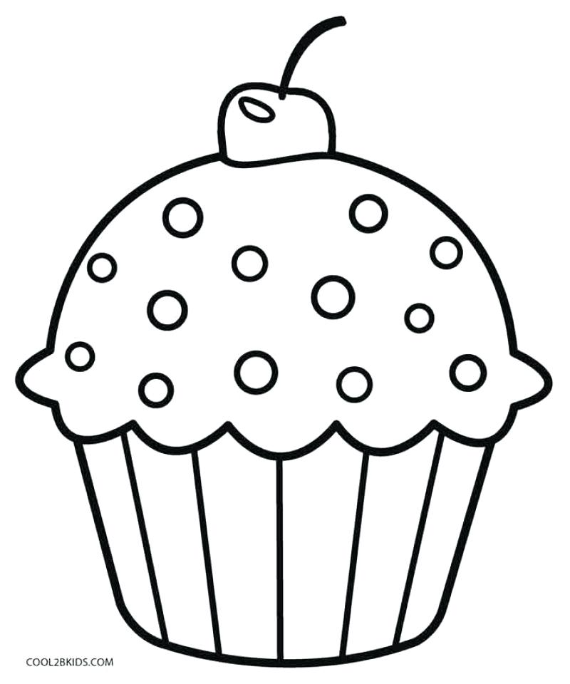 Cute Cupcake Coloring Pages At Getdrawings Com