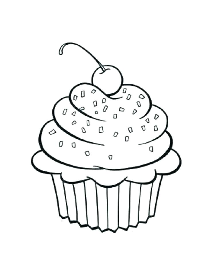 743x960 Free Printable Cupcake Coloring Pages For Kids Hard
