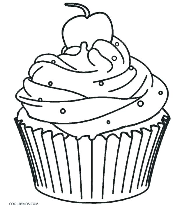 618x717 Cupcake Color Picture Kids Coloring Cute Cupcake Coloring Page
