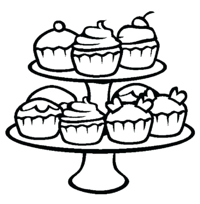 700x713 Cupcake Coloring Page Coloring Pages Of Cupcakes Cute Cupcake