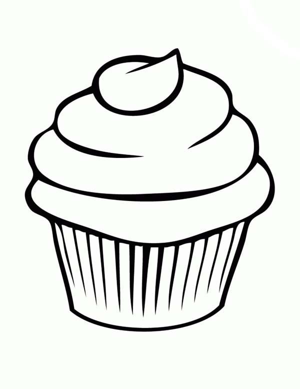 600x776 Cupcake Coloring Pages