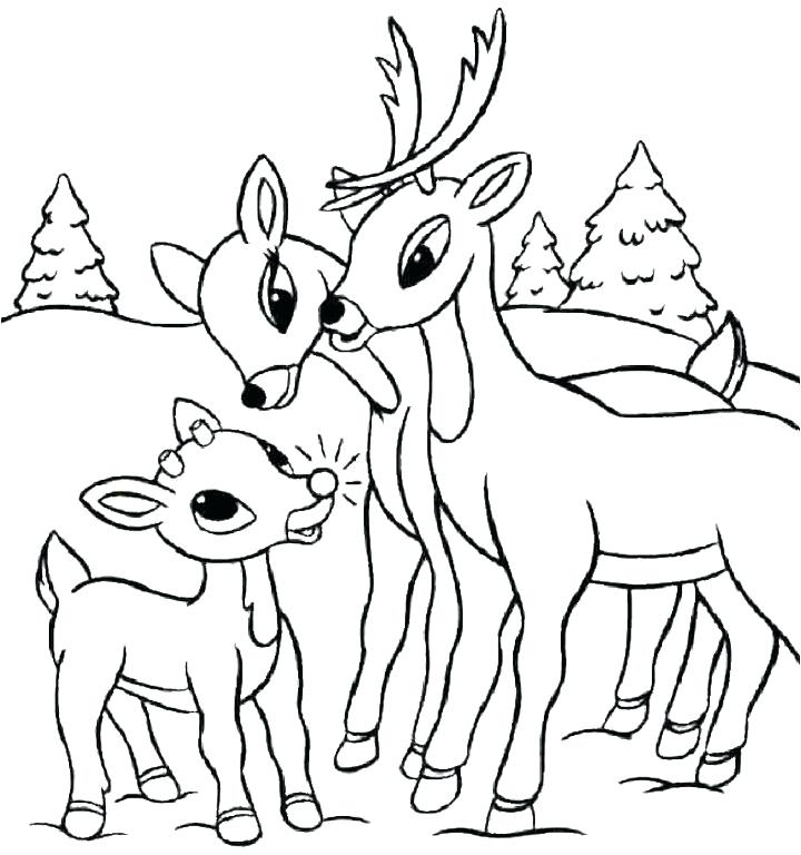 720x768 Baby Deer Coloring Pages Printable Family Deer Coloring Pages Cute