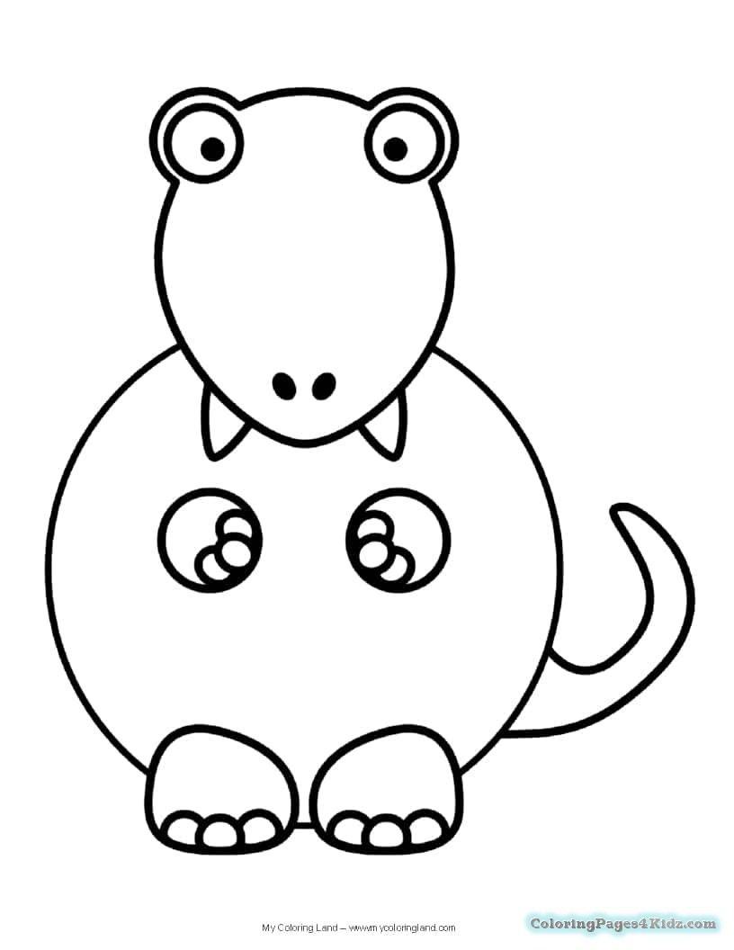 816x1056 Cute Dinosaur Coloring Pages Coloring Pages For Kids