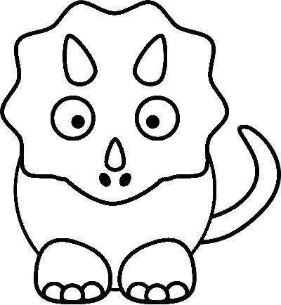 400x434 Cute Dinosaur Coloring Pages Clipart
