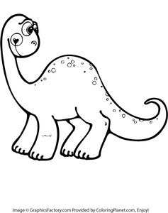 237x300 Free Cute Dinosaur Coloring Page From Coloring