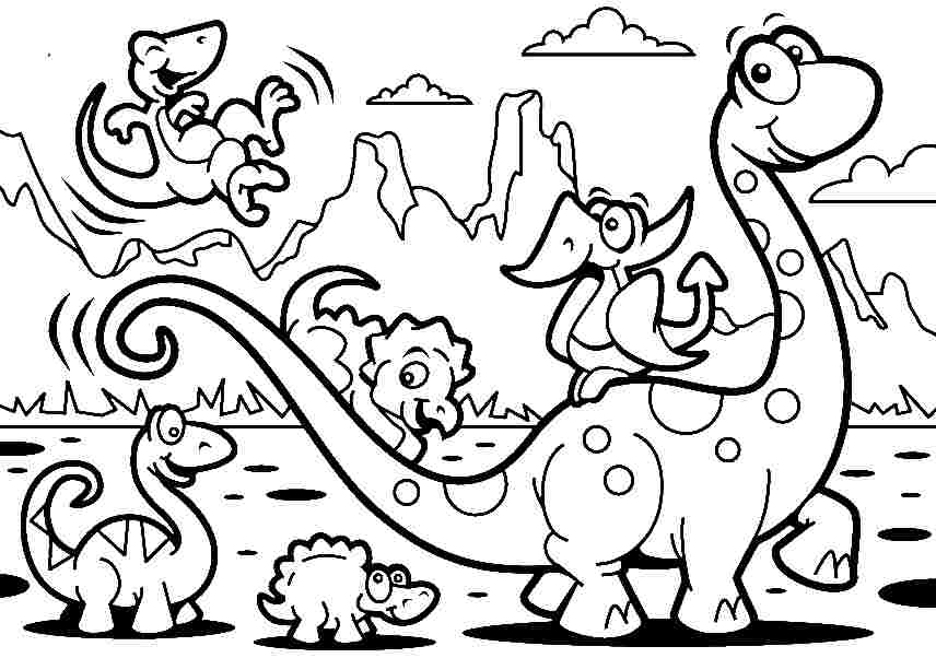 856x602 Coloring Dinosaurs Printable Dinosaur Coloring Pages Cute