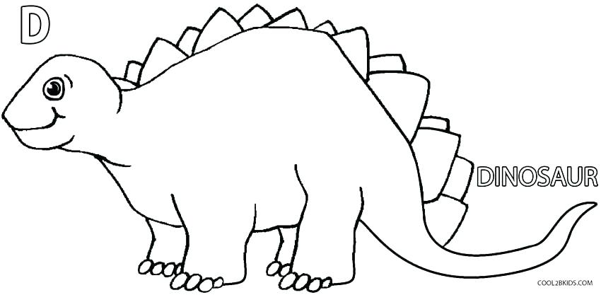 Cute Dinosaur Coloring Pages For Kids At Getdrawings Free Download