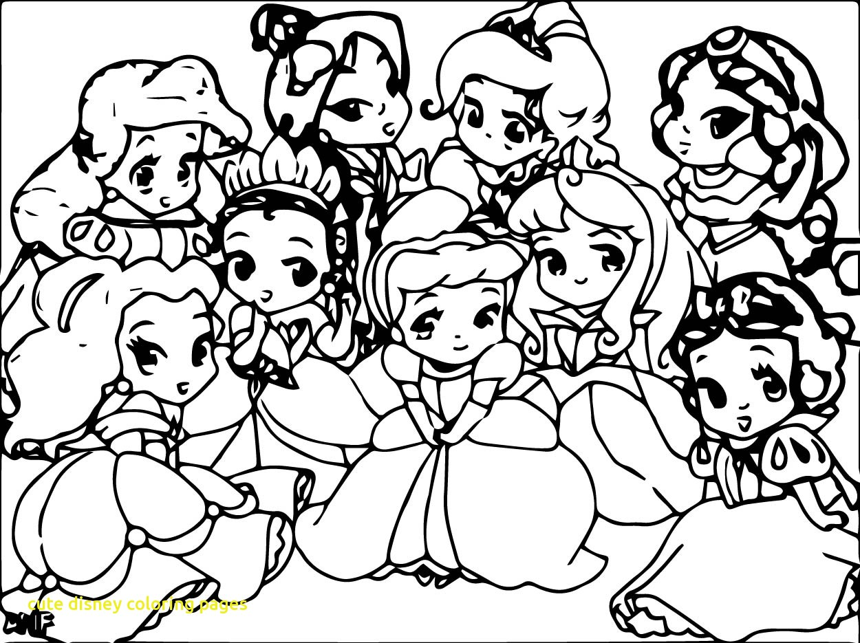 1250x935 Cute Disney Coloring Pages