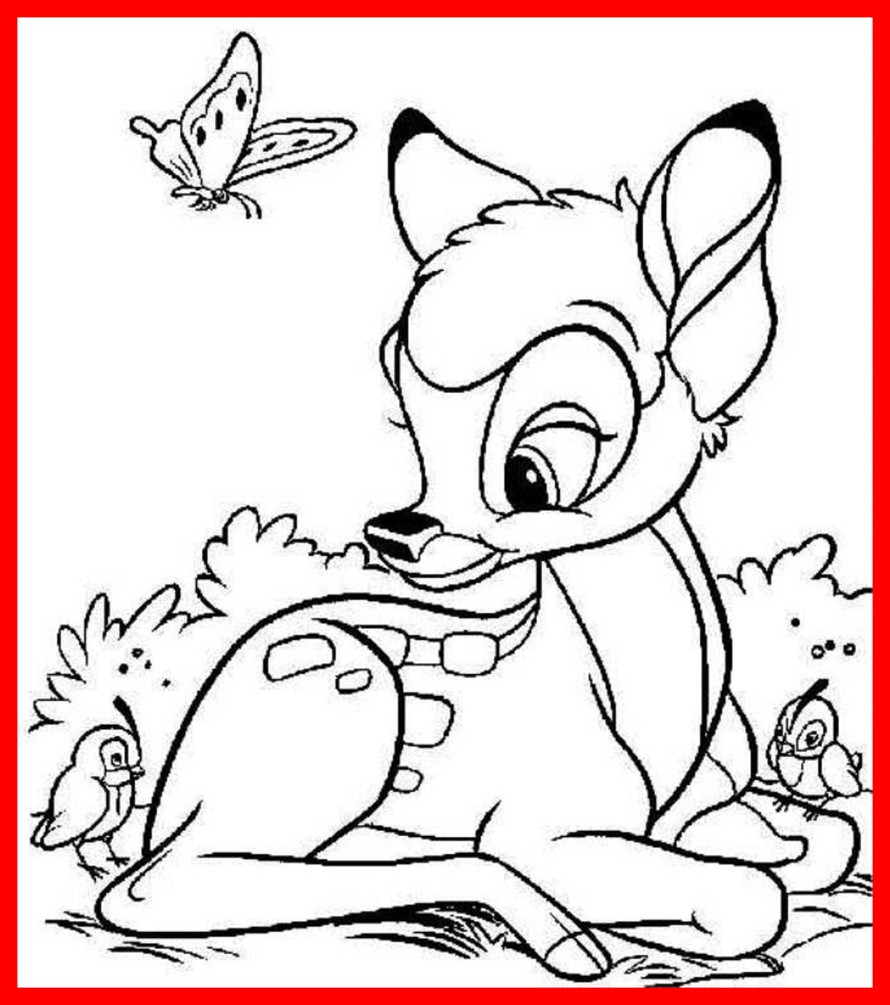 1291x1458 Fascinating Bambi Coloring Pages Printable Of Disney Cute Trends