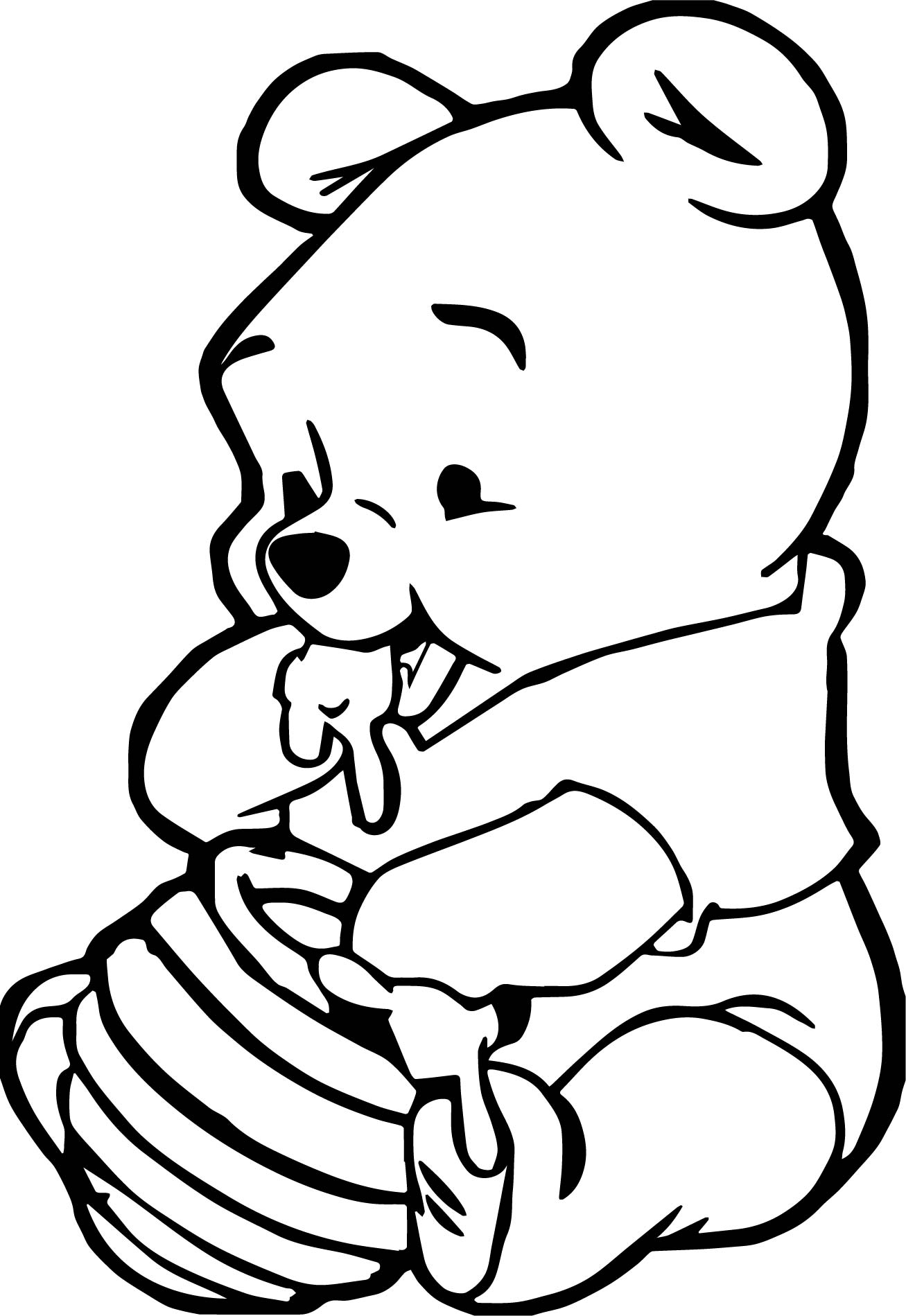 1307x1899 Winnie The Pooh Coloring Pages Baby String Printable