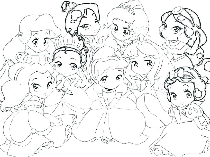 863x647 Cute Disney Princess Coloring Pages Tattoo Nice Baby