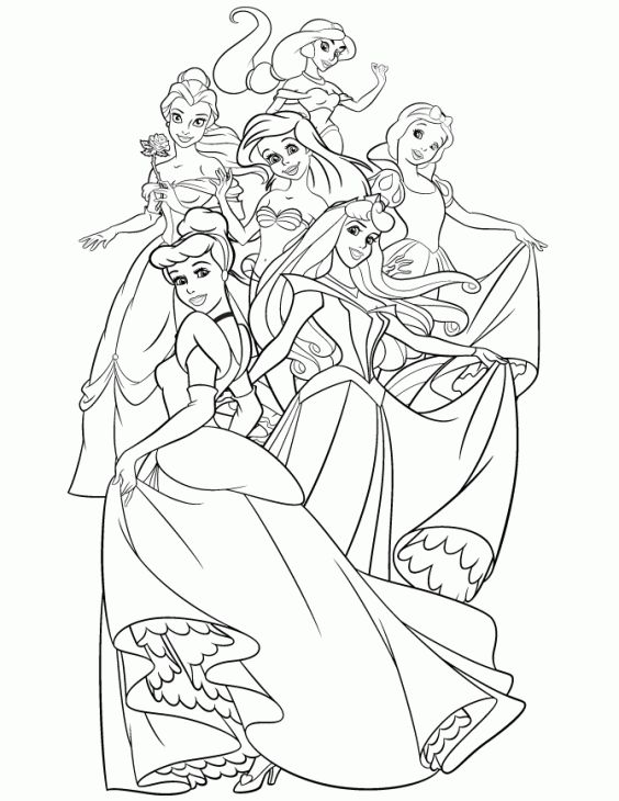 564x730 Disney Princess Coloring Book Cute Disney Princess Coloring Book