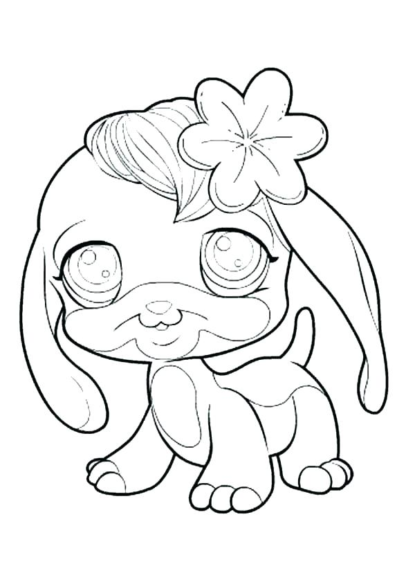 Cute Dog And Cat Coloring Pages