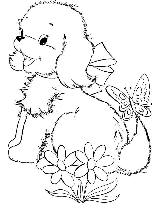 648x818 Cute Dog Coloring Pages