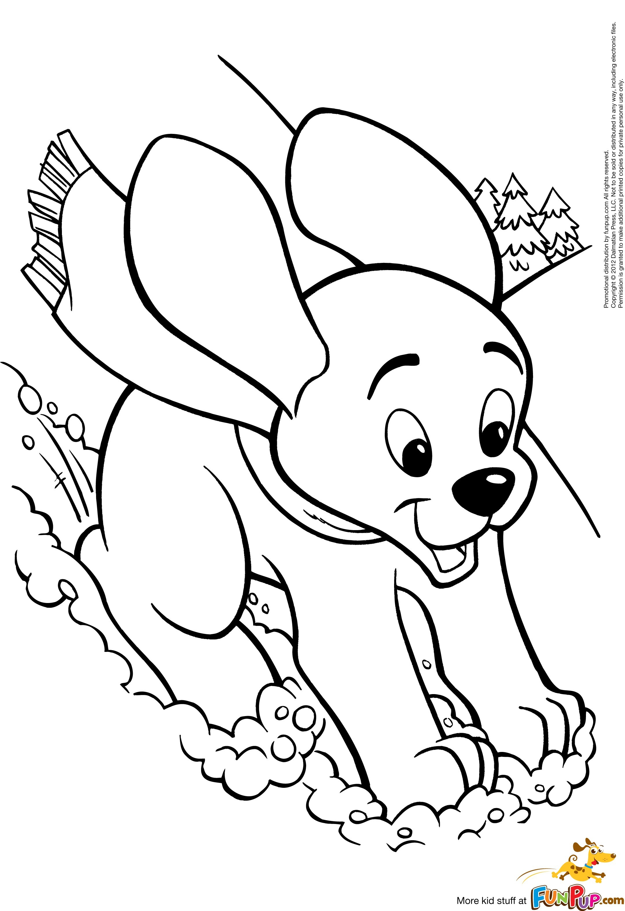 Cute Dog Coloring Pages For Kids at GetDrawings | Free ...