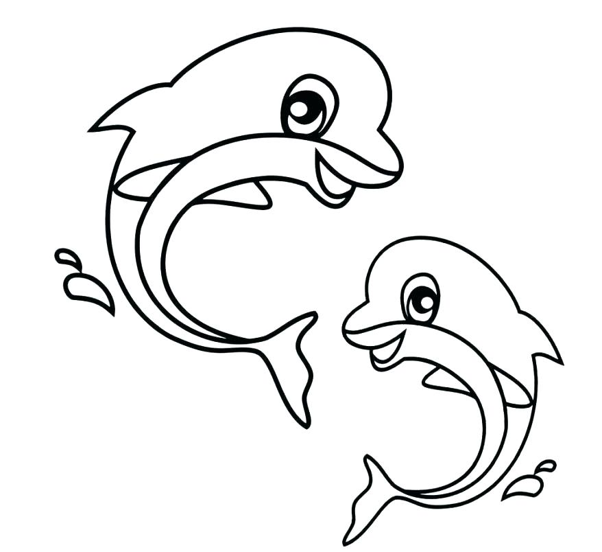 878x804 Cute Dolphin Coloring Pages Cute Dolphin Coloring Pages Cute