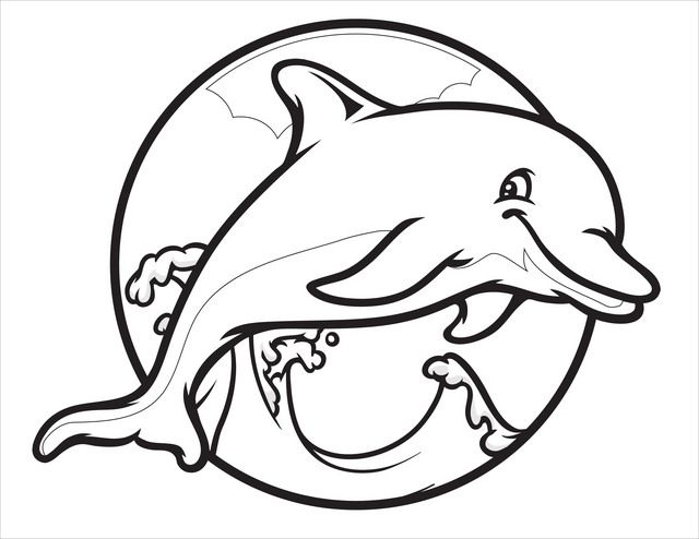 640x494 Cute Dolphin Coloring Page Free Printable Pages Best Of Dolphins
