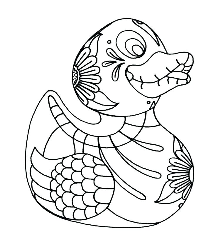 736x850 Coloring Pages Ducks Rubber Ducky Coloring Page Duck Coloring