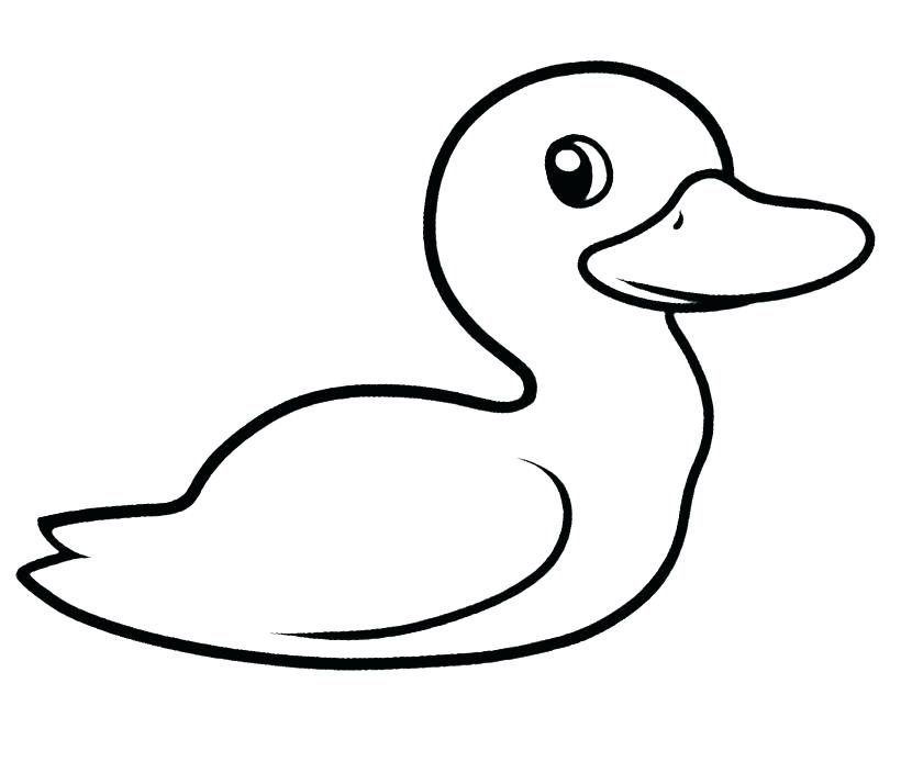 820x694 Duckling Coloring Page Cute Duck Coloring Pages Cute Duckling