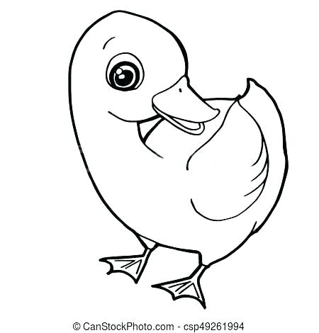 450x470 Duckling Coloring Pages Duckling Coloring Page Cute Duck Coloring