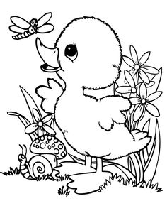 236x283 Cute Baby Duck Coloring Pages