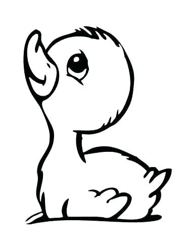 370x480 Baby Duck Coloring Pages Cute Duck Coloring Pages Full Size