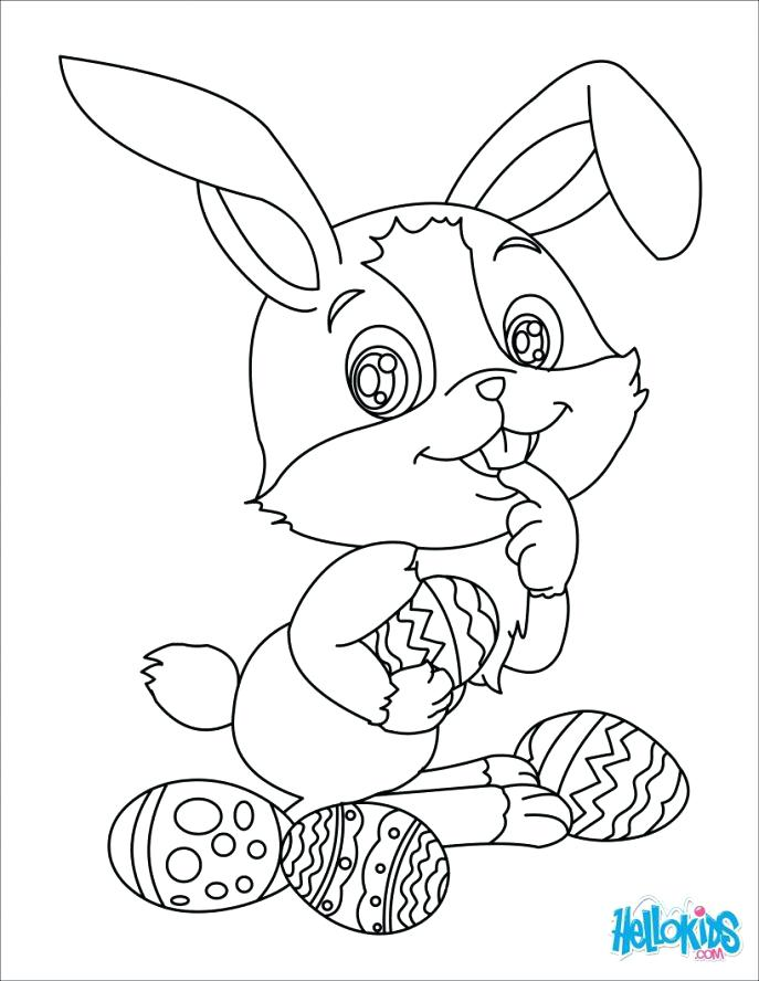687x888 Cute Easter Bunny Coloring Pages Beautiful Bunny Coloring Page