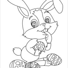 220x220 Cute Easter Bunny Coloring Pages