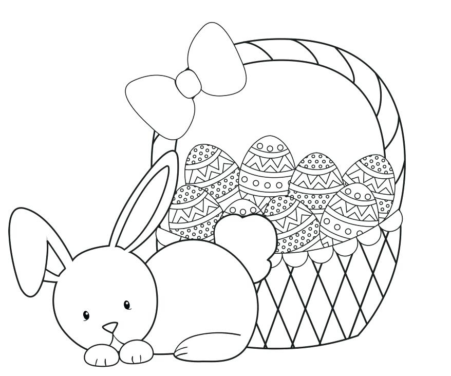 878x732 Easter Bunny Coloring Pages Awesome Cute Easter Coloring Pages