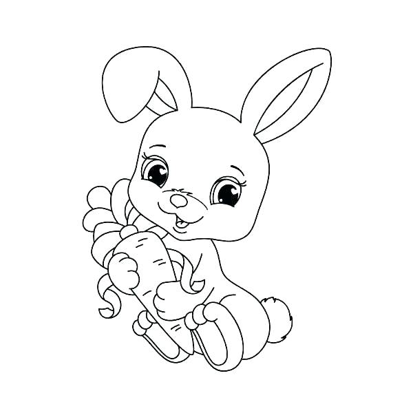 600x600 Easter Bunny Coloring Page To Print Transasia