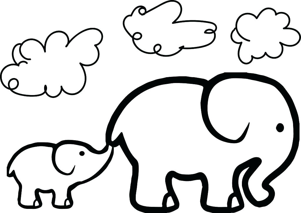 1024x726 Elephant To Color Elephant Cute Baby Elephant Coloring Pages