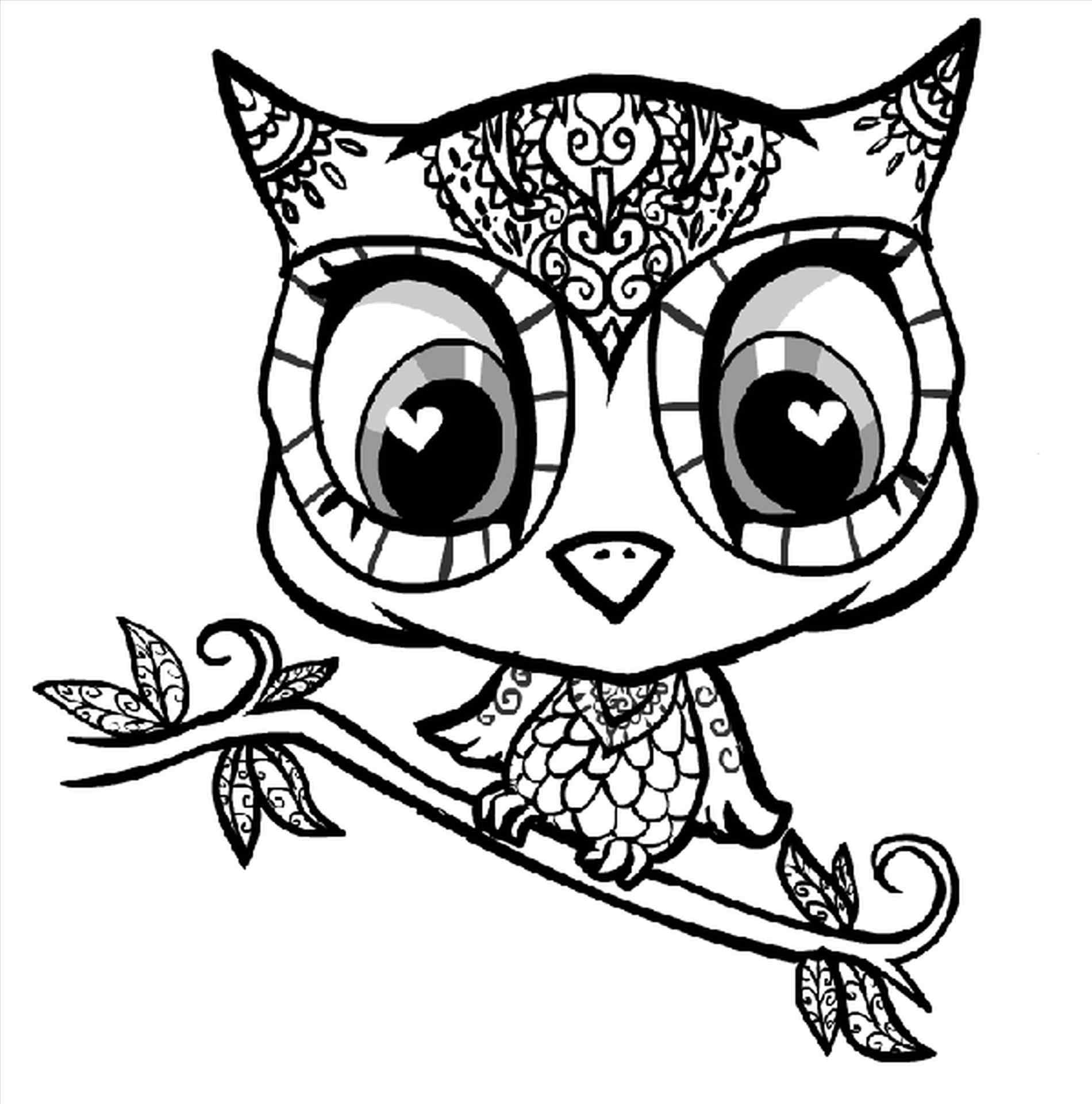 1900x1922 Cute Cartoon Animals With Big Eyes Coloring Pages Online
