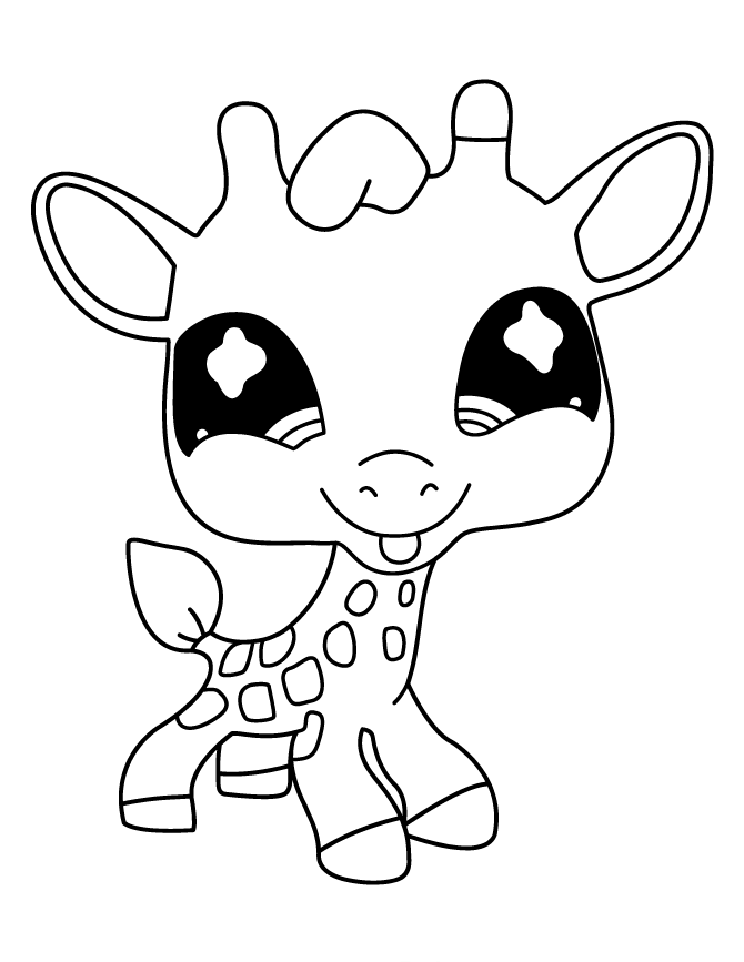670x867 Littlest Pet Shop Deer Cute Coloring Pages Pet