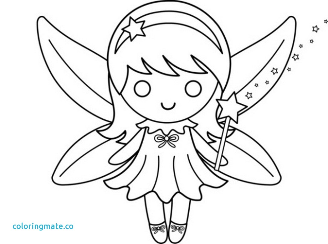 Cute Fairy Coloring Pages