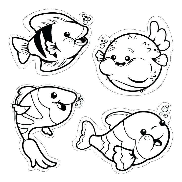Cute Fish Coloring Pages At Getdrawings Com Free For Personal Use