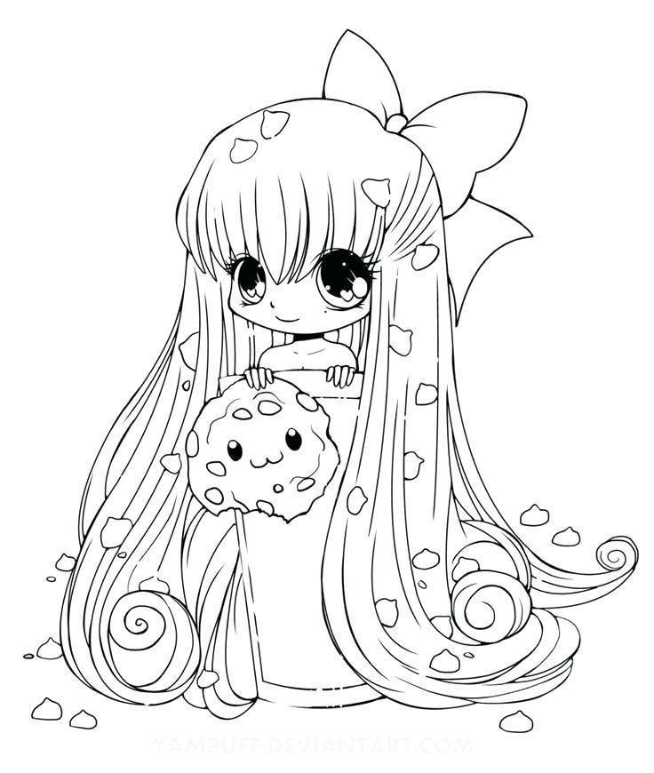 736x870 Kawaii Girl Coloring Pages Fresh Kawaii Coloring Pages Cute Food
