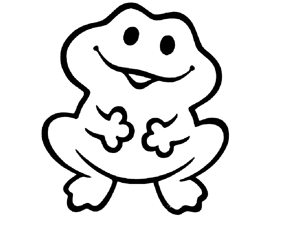 1024x768 Cute Frog Coloring Pages Book Free Download Best